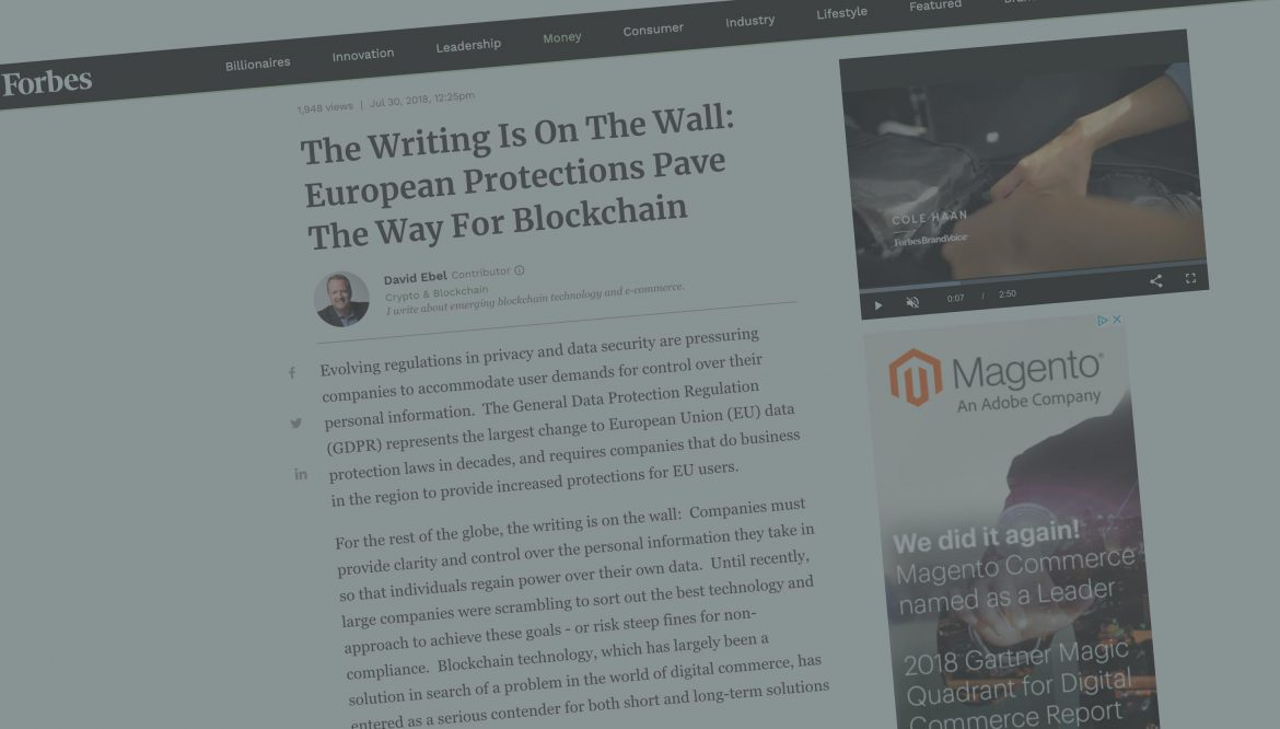 The writing is on the wall: European protections pave the way for blockchain