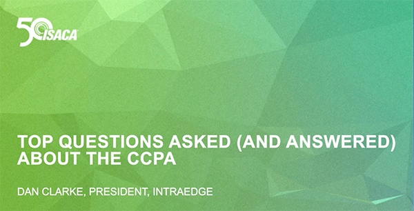 Top Questions Asked About the CCPA ISACA Webinar