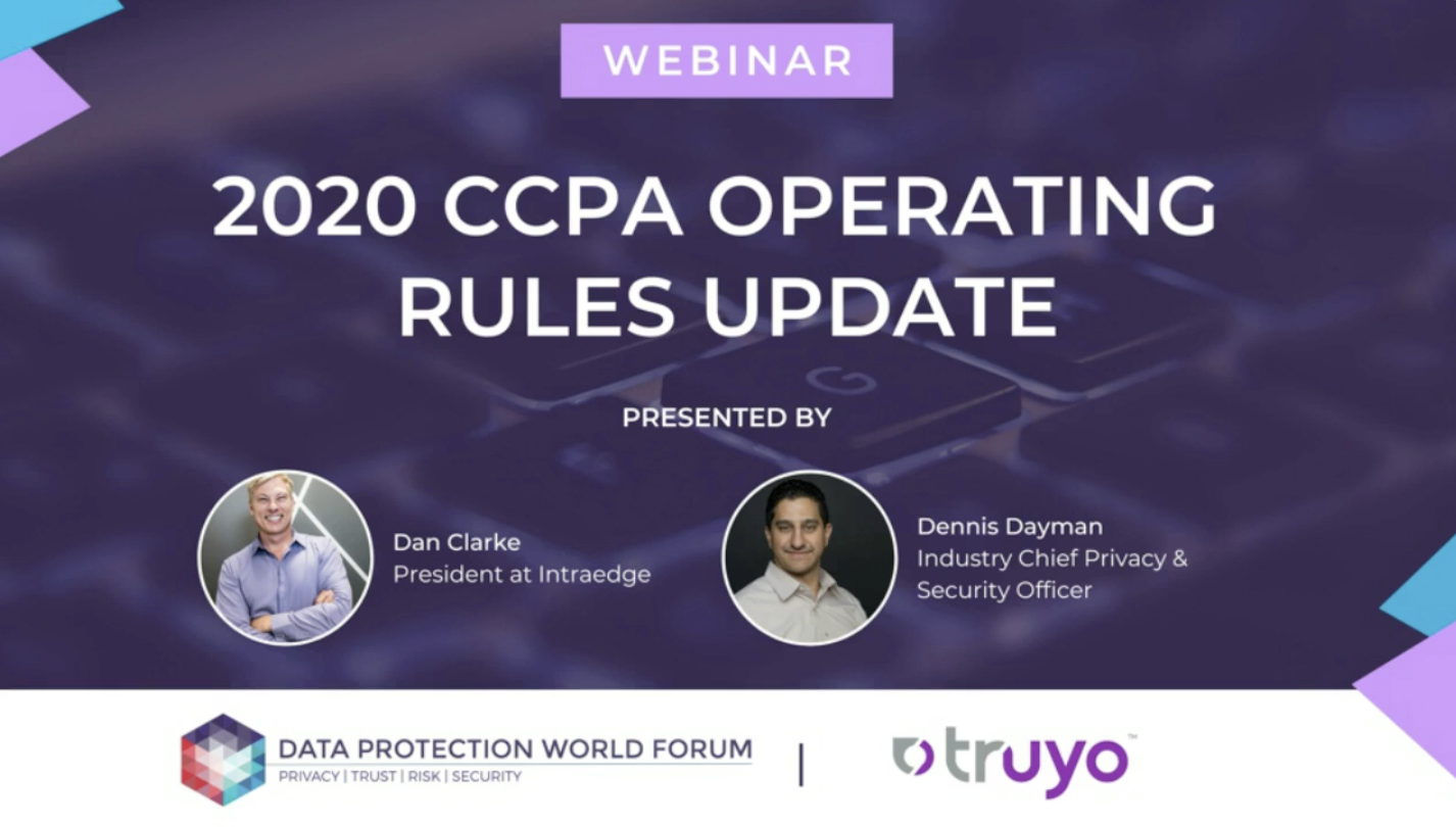 2020 CCPA Operating Rules Update