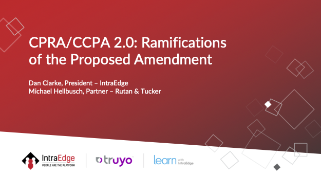 CPRA CCPA 2.0: Ramifications of the Proposed Amendment
